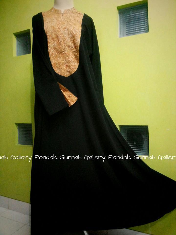 Gamis Cadar Abaya Payung Oval Coklat Batik