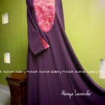 Gamis Cadar Abaya Payung Oval Lavender