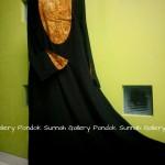 Gamis Cadar Abaya Payung Oval Motif Coklat Daun