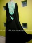Gamis Cadar Abaya Payung Oval Motif Hijau