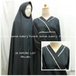 Gamis Cadar Se Kimono List Abu Abu