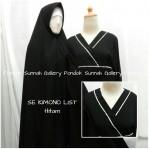 Gamis Cadar Se Kimono List Hitam