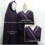 Gamis Cadar Se Kimono List Ungu Tua