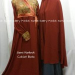 Hijab Cadar Semi Hanbok Coklat Bata