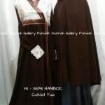 Hijab Cadar Semi Hanbok Coklat Tua