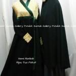 Hijab Cadar Semi Hanbok Hijau Tua Pekat