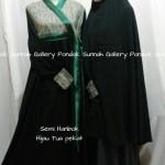 Hijab Cadar Semi Hanbok Hijau Tua Pekat1