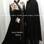 Hijab Cadar Semi Hanbok Hitam1