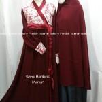 Hijab Cadar Semi Hanbok Marun