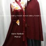 Hijab Cadar Semi Hanbok Marun1