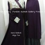 Hijab Cadar Semi Hanbok Ungu Tua