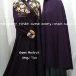 Hijab Cadar Semi Hanbok Ungu Tua1