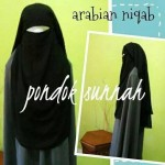 Purdah Arabian Niqab Hitam
