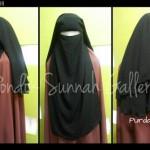Purdah Mesir Niqab Hitam Coklat