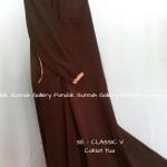 baju muslim dewasa SE-CLASSIC V coklat tua