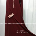 baju muslim dewasa SE-QUEEN merah marun