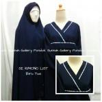 Gamis Cadar Se Kimono List Biru Tua