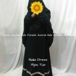 gamis anak perempuan Naila Dress Hijau Tua