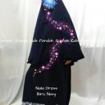 gamis anak perempuan Naila Dress biru navy