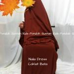 gamis anak perempuan Naila Dress coklat dress