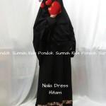 gamis anak perempuan Naila Dress hitam