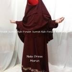 gamis anak perempuan Naila Dress marun