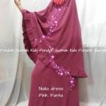 gamis anak perempuan Naila Dress pink fanta