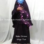 gamis anak perempuan Naila Dress ungu tua