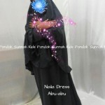 gamis anak perempuan Naila abu abu