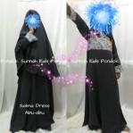 Gamis Anak Perempuan Salma Dress Abu Abu