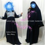 Gamis Anak Perempuan Salma Dress Biru Navy