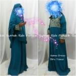 gamis anak perempuan salma dress biru tosca
