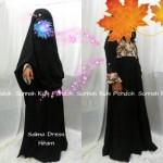 gamis anak perempuan salma dress hitam