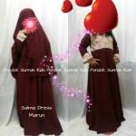 gamis anak perempuan salma dress marun