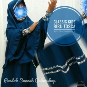 Gamis Anak Classic Kids Biru Tosca