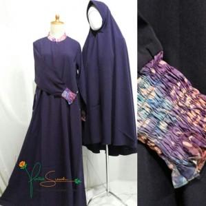 Gamis Cadar SE CLASSIC Motif Batik (manset karet panjang)