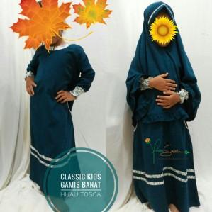 Gamis Anak Classic Kids Hijau Tosca