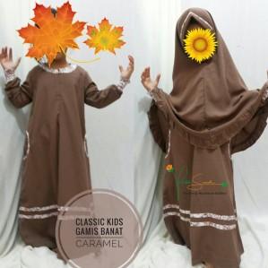 Gamis Anak Classic Kids Caramel