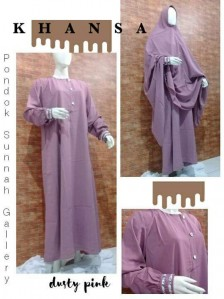 Gamis PS Khansa Dusty Pink