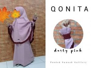 Gamis Qonita Kids Dusty Pink
