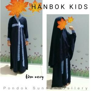A-LINE HANBOK KIDS NAVY