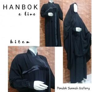 Gamis A-Line Hanbok Hitam