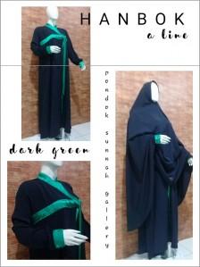 Gamis A-Line Hanbok Dark Green