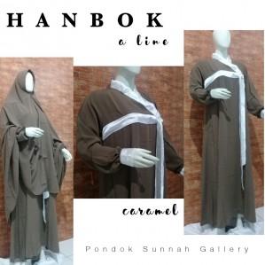 Gamis A-Line Hanbok Caramel