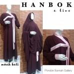 Gamis A-Line Hanbok Merah Hati